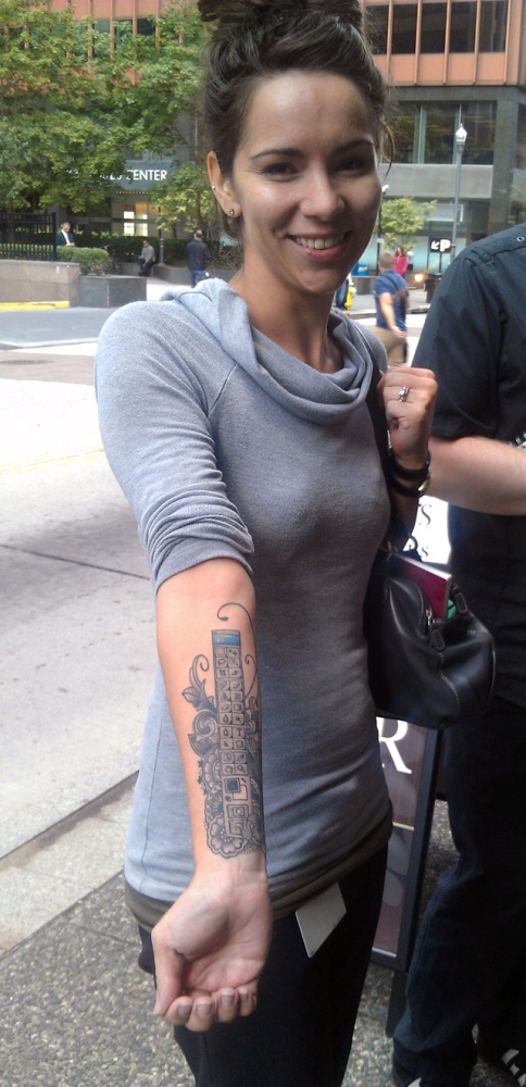 Ink: Megan Orsi (The Woman with the Photoshop Toolbar Tattoo) (1/3)