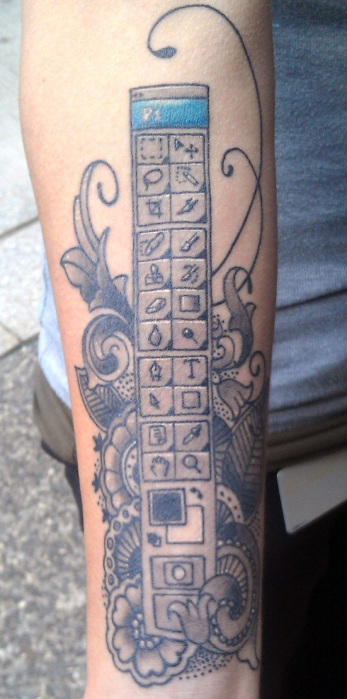 Ink: Megan Orsi (The Woman with the Photoshop Toolbar Tattoo) (2/3)