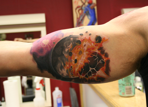 Planet Earth Tattoo - Pics about space