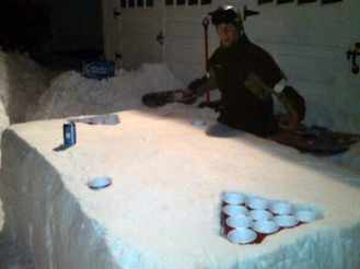 snow-beer-pong