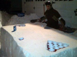 snow-beer-pong