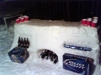 Snow Beer Pong
