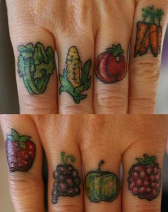 FruitKnuckleTattoos