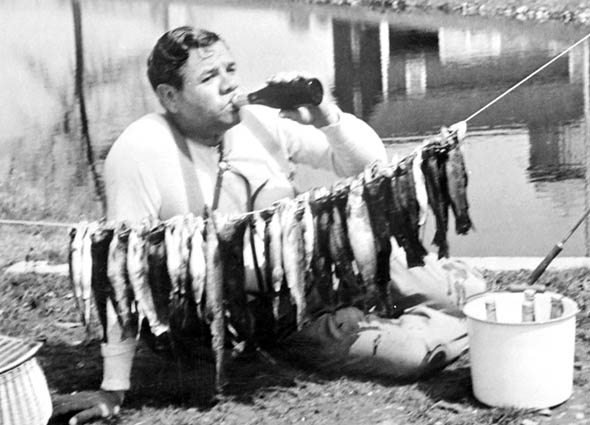 Babe-Ruth-Trout-and-Beer