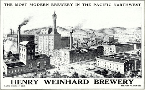 Henry Weinhard  advert  1908