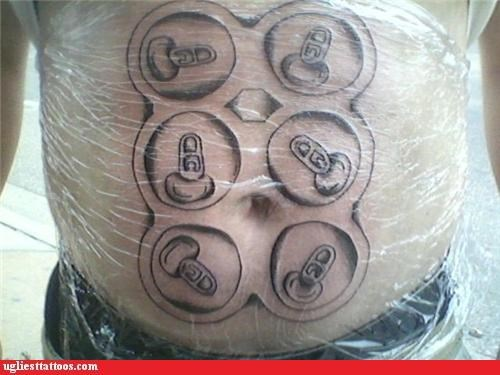 six pack tattoo inky beer