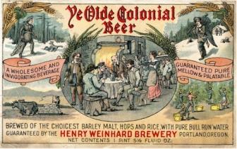Ye Olde Colonial Beer label c.1914