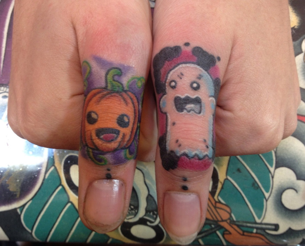 halloween-ghost-pumpkin-tattoos