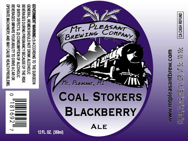 Mount Pleasant Brewing Company Coal Stokers Blackberry Ale