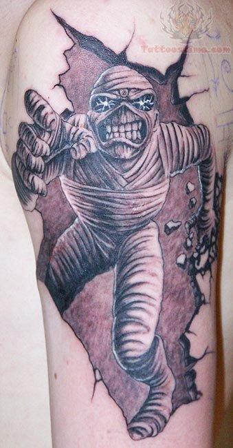 running-mummy-tattoo