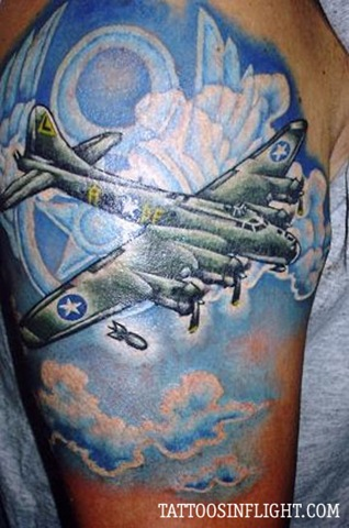 boeing-b-17-flying-fortress-wwii-bomber-eighth-air-force-airplane-tattoo-pete-soto-tattoos-in-flight