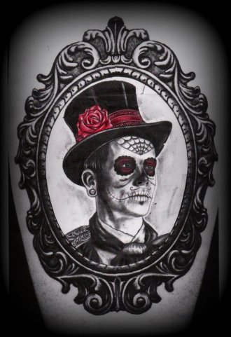 day_of_the_dead_man_in_frame_tattoo_deisgn_by_slabzzz-d5awymf