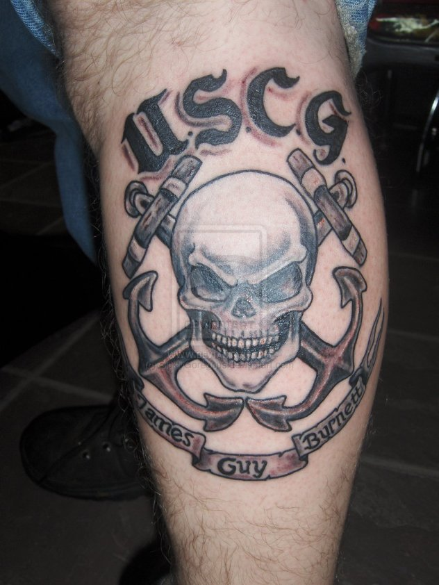 united_states_coast_guard_skull_memorial_tattoo_by_sicklygoregous-d4lobmz