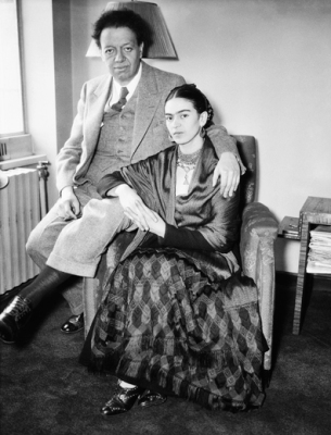 Diego Rivera with Wife Frida Kahlo