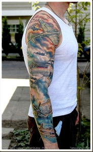 World_war_ii_wwii_aircraft_sleeve_tattoo