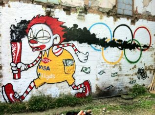 Olympic-graffiti-corporate-pollution