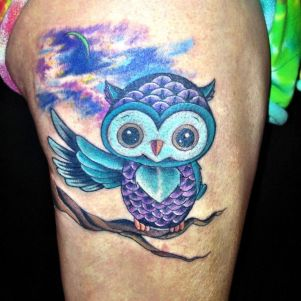 Cute-Blue-Owl;ljh