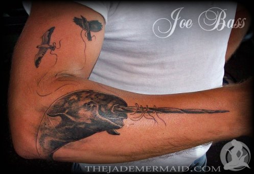 narwhal-tattoo-by-joe-bass-at-the-jade-mermaid