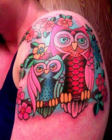 pink-owl-tattoo-designs