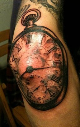clock-tattoo-on-elbow