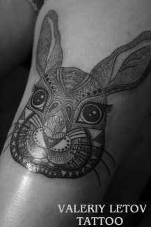 rabbit_tattoo_by_valeriyletov-d6rcpb0