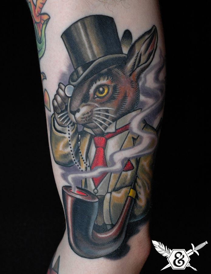 Magician Rabbit Hat And Tattoos