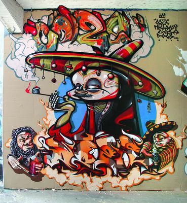 Feliz Cinco De Mayo Con Grafiti Inky Beer