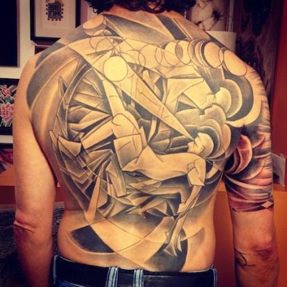 David Sena soccer tattoo