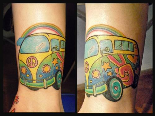 to volkswagen with love tattoos inky beer. Black Bedroom Furniture Sets. Home Design Ideas