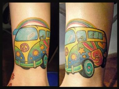 hippie-volkswagen-tattoo-design