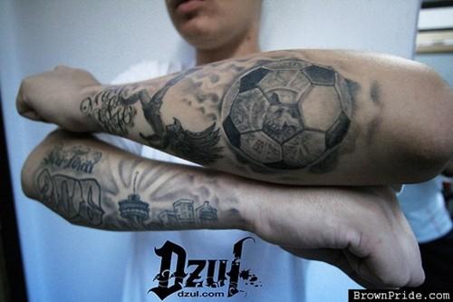 tattoos de futbol soccer tattoos inky beer. Black Bedroom Furniture Sets. Home Design Ideas