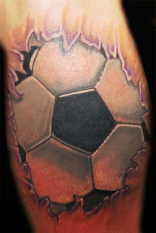 Soccer-fire-tattoo-idea