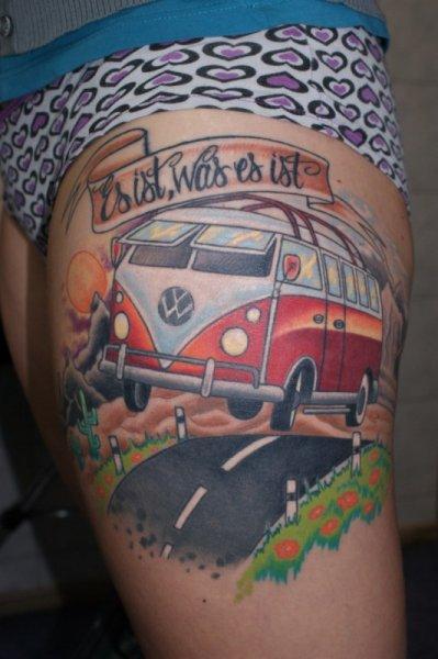 tattoo-leg-volkswagen