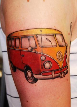volkswagen van tattoo