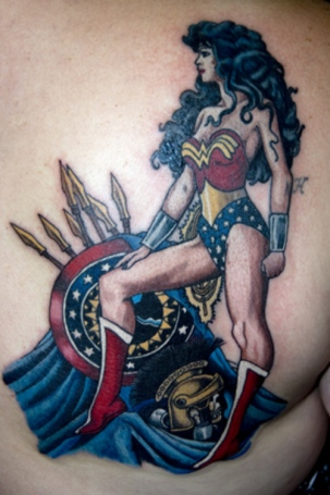 Tattoos inky beer for Tattooed wonder woman