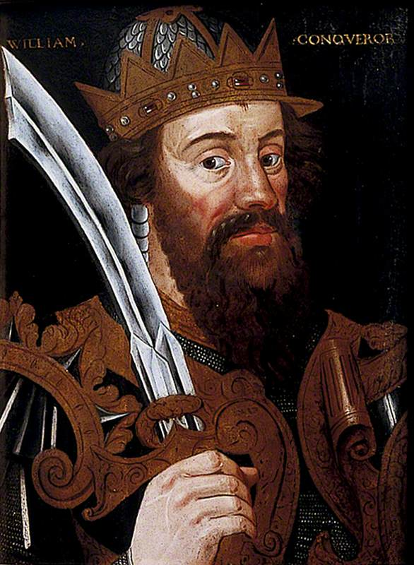 William the Conqueror, posing on a painting.